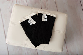 Mommy Boot Cuffs Black CLEARANCE