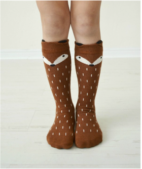 Girls Brown Fox Socks