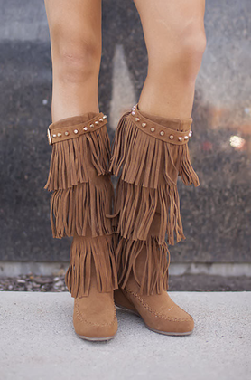 Mommy Studded Top Moccasin Boot