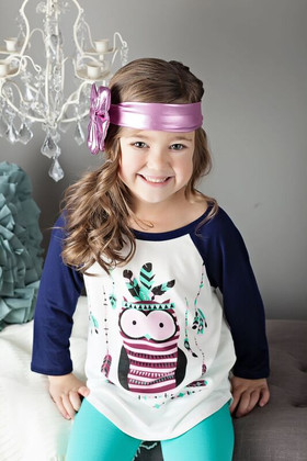 Girls Floppy Bow- Shimmer Pink