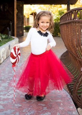 Girls Red Tulle Skirt CLEARANCE