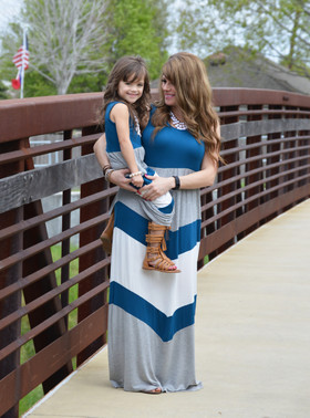 Mommy Pretty Girl Maxi Teal/Gray CLEARANCE
