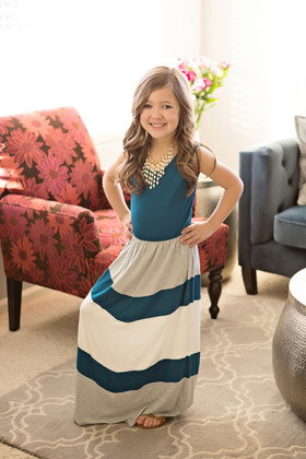 Girls Pretty Girl Maxi Teal/Gray CLEARANCE