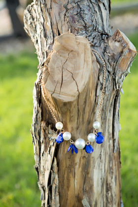 Girls Royal Burst and Pearl Necklace