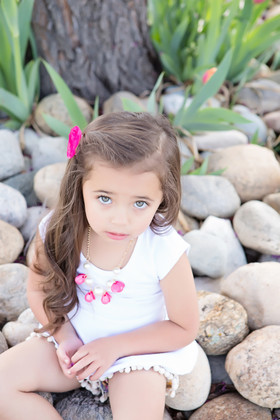 Girls Coral Burst and Pearl Necklace