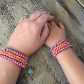 Girls Beaded Bracelet Turquoise