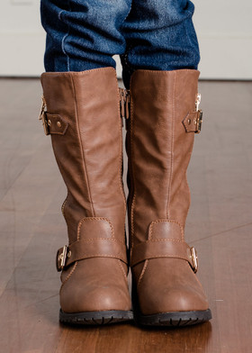 Girls Riding Boots - Tan