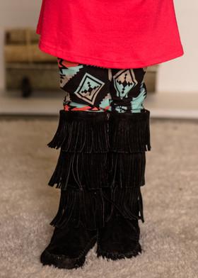 (Cyber Monday) Girls Tribal Love Colorful Leggings