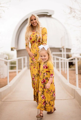 Girls Beautiful Dream Floral Pocket Maxi Dress Yellow