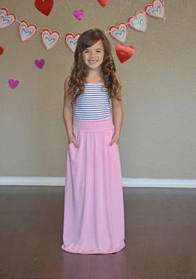 Girls Take Me to Paris Maxi Skirt Pink
