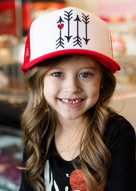 Girls Arrows and Hearts Mesh Cap