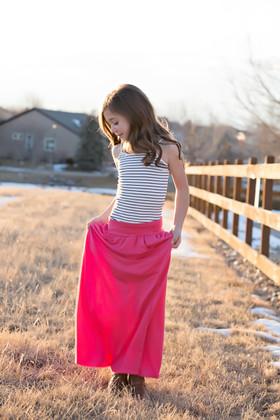 Girls Take Me to Paris Maxi Skirt Coral