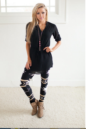 Mommy Black Sassy Drawstring Dress CLEARANCE