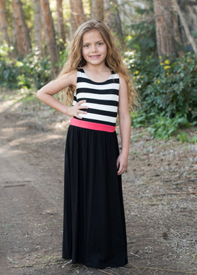 Girls Black Double the Fun Tank Maxi CLEARANCE