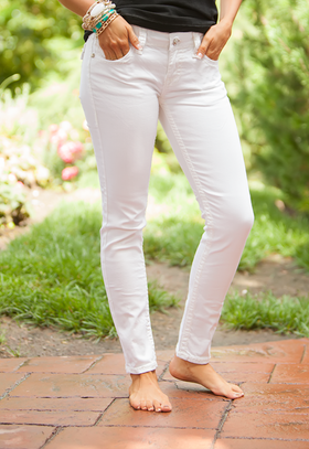 Mommy Fashion White Skinny Jeans CLEARANCE
