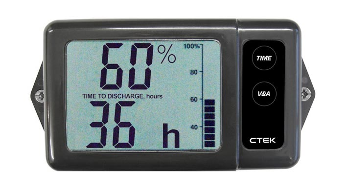 12v Rv Battery Monitor : Ctek ctmonitor digital battery monitor v frankies