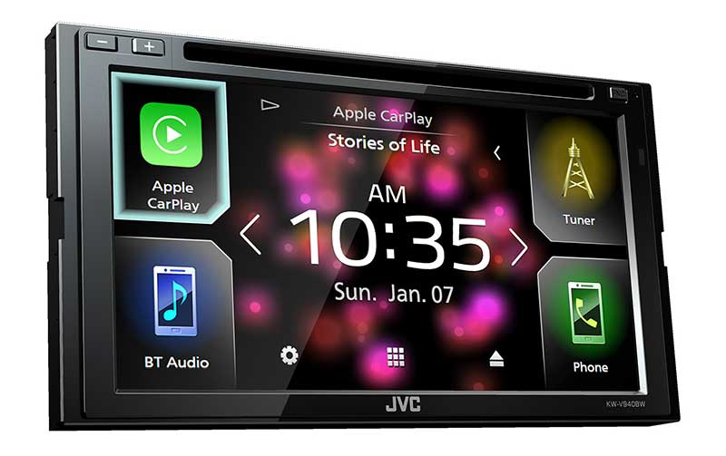 jvc kw v940bw av player with apple carplay wifi. Black Bedroom Furniture Sets. Home Design Ideas