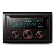 Pioneer FH-S820DAB Double DIN Car Stereo w/ BT, USB, DAB/DAB+, Spotify, Smartphone Compatibility and Multi Colour Illumination