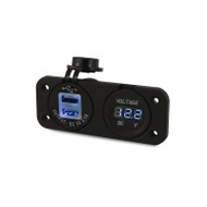 DNA PA203 Heavy Duty Twin Dual USB Socket & Volt Meter