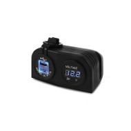 DNA PA403 Heavy Duty Surface Mount Dual USB Socket & Volt Meter