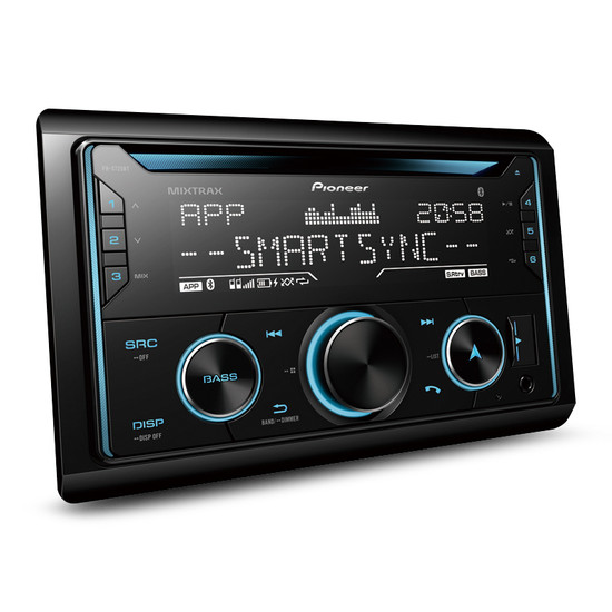Pioneer FH-S725BT Car Stereo with Dual Bluetooth, Spotify, USB/AUX & Advanced Smartphone Connectivity