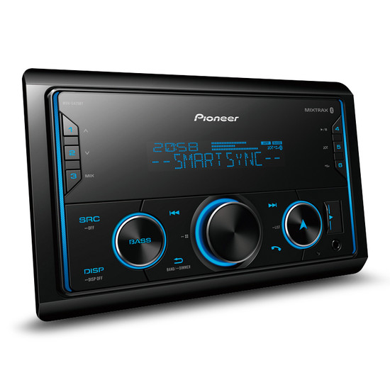 Pioneer MVH-S425BT Multimedia Tuner with Dual Bluetooth, Spotify, Advanced Smartphone Connectivity & Siri Eyes Free