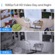 eufy T8807CD3 1080p Full-HD Wire-Free 4 Security Camera Set w/ Facial Recognition + AI Homebase Unit