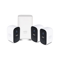 eufy T8832CD3 1080p 2C Security Camera Kit - 3 Pack + AI Homebase Unit