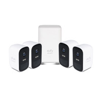 eufy T8833CD2 1080p 2C Security Camera Kit - 4 Pack + AI Homebase Unit