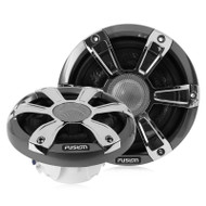 "Fusion SG-FL65SPC - 6.5"" 230 WATT Coaxial Sports Chrome Marine Speaker with LED"