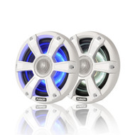 "Fusion SG-FL65SPW - 6.5"" 230 WATT Coaxial Sports White Marine Speaker with LED's"
