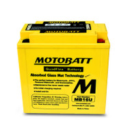 Motobatt MB16U 12V 20Ah 240CCA AGM Motorcycle Battery