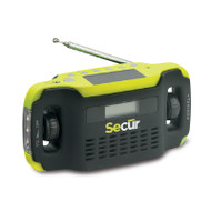 Secur SP-2000 Digital Solar Dynamo Radio & LED Flashlight