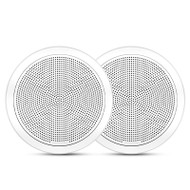 "Fusion FM-F77RW 7.7"" 200W White Round Grille Flush Mount Marine Speakers"