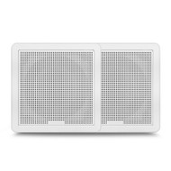 "Fusion FM-F77SW 7.7"" 200W White Square Grille Flush Mount Marine Speakers"