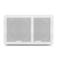 "Fusion FM-F65SW 6.5"" 120W White Square Grille Flush Mount Marine Speakers"