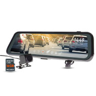 "Gator GRV95MKT 9"" Mirror Monitor with Full HD Dual Dash Cam & Reverse Camera Function"