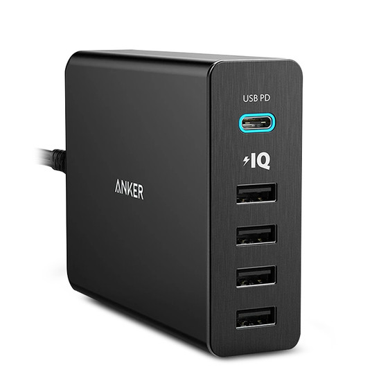 Anker A2053T11 PowerPort MacBook 5 Ports/60W USB-C Charger with PD