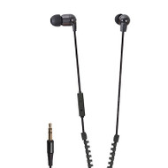 Vibe VHSPACEZIPB-V1 In-Ear Headphone with 1-Button Remote - Black
