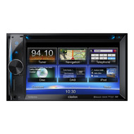 Clarion NX502A 2-DIN DVD multimedia station with 6.2-inch touch panel control, USB and built-in navigation
