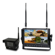 "Axis JS007WQK 7"" Heavy Duty Wireless Reversing System w/ Quad Recording and Waterproof CCD Camera"