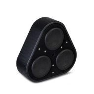 Vibe BLACKAIRP8-V6 Black Air Wheel Well Triple 8 Inch Passive Radiator Subwoofer