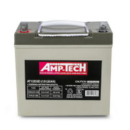 Amp-Tech AT12550D VRLA/AGM Deep Cycle Battery (12V 55Ah)