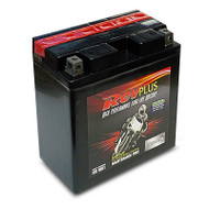 RevPLUS STX16BL-BS-PW Ultra High Performance Heavy Duty Motorcycle Battery (12V, 19Ah)