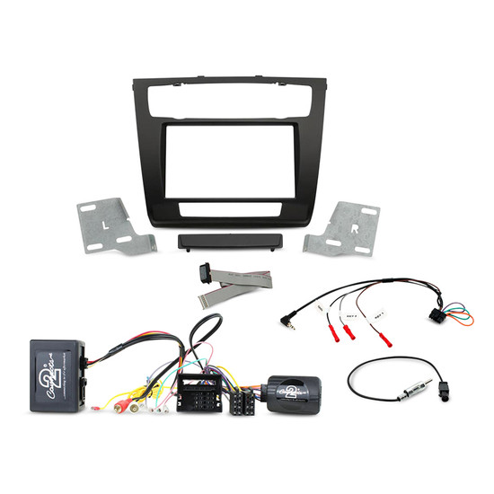 Aerpro FP8228KF Double Din Black Install Kit to Suit BMW - 1 Series with Auto Climate Control & Most25 Amplified System