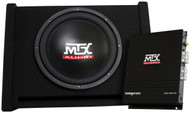 "MTX Terminator TNP112D 12"" 200W RMS Vented Subwoofer Enclosure And Mono Block Amplifier Package"
