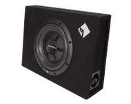 ROCKFORD FOSGATE R2S-1X10 SINGLE PRIME R2S SHALLOW 10 INCH SUBWOOFER ENCLOSURE 400 WATT