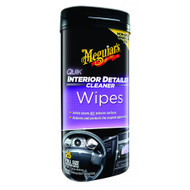 Meguiar's G13600 Quik Interior Detailer Cleaner Wipes - 25 Pieces