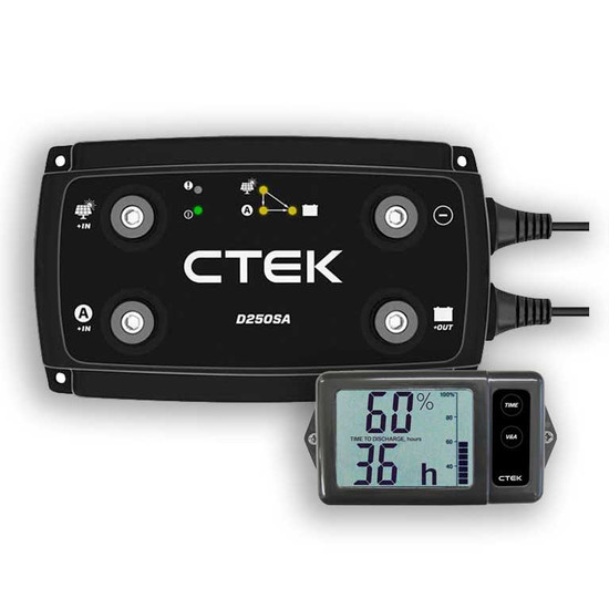 CTEK OFF GRID 12 VOLT 20A BATTERY CHARGING SYSTEM WTIH DIGITAL DISPLAY MONITOR