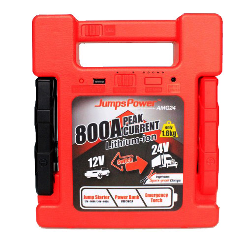 JUMPSPOWER AMG24 12/24V 800A LITHIUM JUMPSTARTER POWER BANK